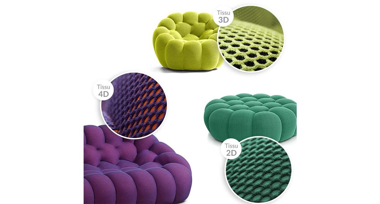 Bubble Sofa Roche Bobois the techno fabric, designed exclusively for roche bobois
