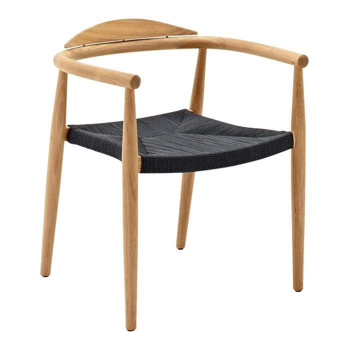 Dansk Stacking Chair with Arms Buffed Teak