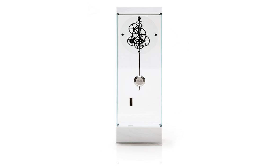 Adagio Floor Clock POLISHED COVELANO WHITE
