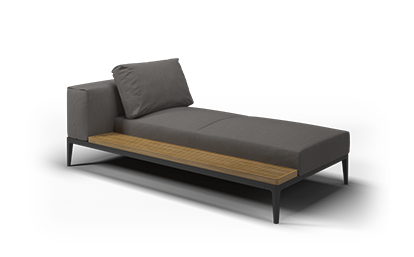Grid Left / Right Chaise Unit - Buffed Teak