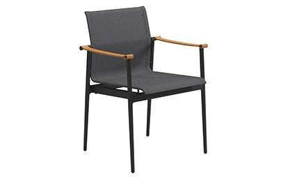 180 Stacking Chair with Leather Arms