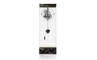 Adagio Floor Clock BRUSHED SILVER WAVE
